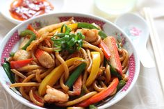 my bare cupboard: Stir fried udon noodles with seafood in XO sauce