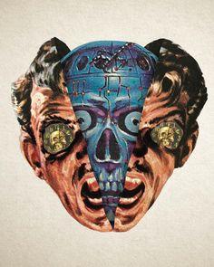 Moon Patrol, Cyberpunk, Pop Art, 70s Sci Fi Art, Grunge Art, Comic, Retro Futurism, Collage Art, Digital Collage