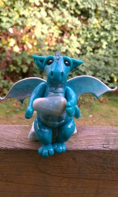 Fantasy dragon polymer clay figurine by ARAartisticcreations,