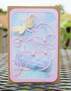Tami shares a stunning mixed media card using a sketch and ColorBox Embossing Powder, Spritzer, & Sprays!