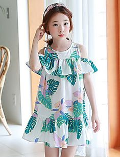 Forceful Infant Kid Baby Girls Summer Short Sleeve Princess Party Flower Dress Outfit School Daily Wear Sashes Kids Girl Casual Clothes Outstanding Features Clothing Sets Mother & Kids