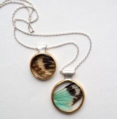 cicada wing pendant {from carrie bilbo}