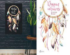 Dreamcatchers. Imágenes Prediseñadas de la por OctopusArtis en Etsy