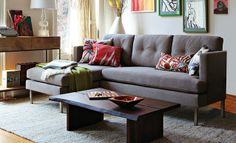 I love the West Elm Colorful Rustic Living Room on westelm.com/