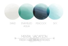 blue and gray color palette, mental vacation brushstrokes
