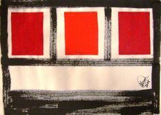"""""""Sem nome"""" acrílica sobre papel 0,32 x 0,28 2008 M. Sigrini Miranda"""