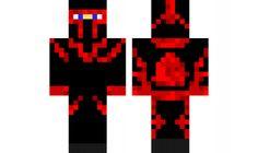 minecraft skin red-ninja