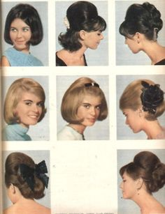 60s hair! More like the hair style of 1965 -69 but some were more poofed up.