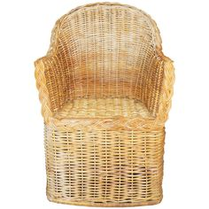 Michael Taylor Wicker Arm Chair | From a unique collection of antique and modern armchairs at http://www.1stdibs.com/furniture/seating/armchairs/