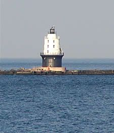 Cape May Ferry Lighthouse in Delaware Bay Water Pics, Water Pictures, Cape May Ferry, Delmarva Peninsula, Delaware Bay, Memories Faded, Beacon Of Light, Light House, Being In The World