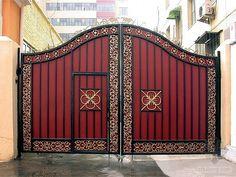 Iron Main Gate Design, Home Gate Design, Grill Gate Design, Steel Gate Design, House Design, Front Door Design Wood, Front Gate Design, Simple Gate Designs, Ok Design
