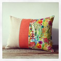 I'm trying to find this for the flower girl dresses. Bright Floral Decorative Pillow  Tresco by JillianReneDecor, $75.00