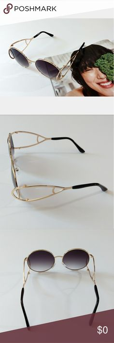 FLASH SALE! OVERSIZED MIRROR ROUND SUNGLASSES Brand new sunglasses with unique design. Accessories Sunglasses