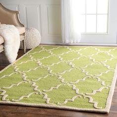 Havenside Home NuLOOM Handmade Luna Marrakesh Trellis Wool Rug X   X (Green)