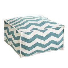 Wisteria - Furniture - Poufs & Stools - Chevron Pouf - $125