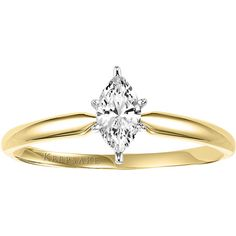 Keepsake Endless Marquise 1/3 Carat Marquise Diamond Engagement Ring in 10kt Yellow Gold