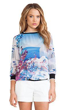 Clover Canyon Santorini Stripe Chiffon Sweatshirt in Multi | REVOLVE