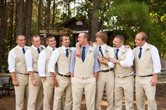 Blue and Green Country Wedding at Shady Wagon Farm coordinated by Sweet SaraBell and photographed by A.J. Dunlap Photography.
