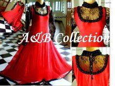 Red black net indian pakistani suit dress