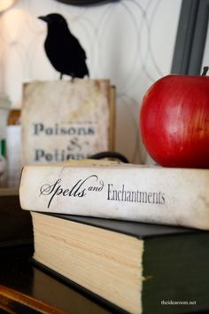 Free book cover printable-spells and potions book jacket Halloween decor