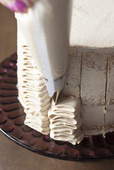 Ruffle cake de avellana