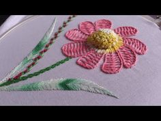 Hand embroidery. Hand embroidery flower design. - YouTube
