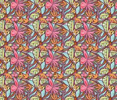 Floral Bliss (Tropical) Small scale fabric by brendazapotosky on Spoonflower - custom fabric