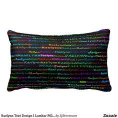 Raelynn Text Design I Lumbar Pillow