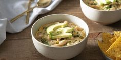 White Chicken Chili - Better Than Bouillon White Bean Chili, White Chicken Chili, Chili Recipes, Soup Recipes, Chicken Recipes, Cooking Chicken To Shred, How To Cook Chicken, Vegetable Base Recipe, Stuffed Poblano Peppers