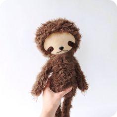 Kawaii Sloth Stuffed Animal Plushie by bijoukitty on Etsy, $48.00