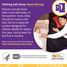 #SIDS #SafeToSleep #baby #infanthealth #roomsharing