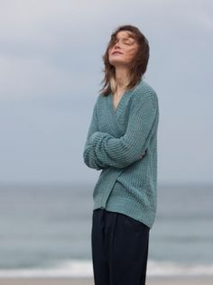 open stitches cardigan - knitbrary