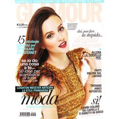 Leighton Meester Glamour Italy February 2011 ❤ liked on Polyvore featuring magazine, celebrities, cover, models and people & print