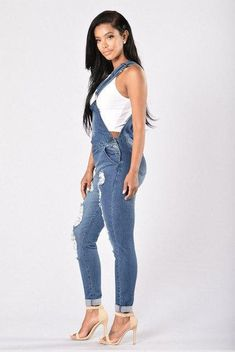 45e676f262ef Denim Overalls Dungarees With Pockets. Long OverallsDenim  OverallsDungareesDenim JeansHigh ...