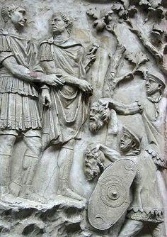Caput Mundi – Beheading and Barbarism on Trajan's Column Ancient Rome, Ancient History, Roman Sculpture, Lion Sculpture, Trajan's Column, Art Romain, Empire Romain, Roman Soldiers, Roman History