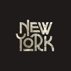 Some fun type that was part of a branding campaign. #typography #newyork #lettering #vintage #bigapple by stevewolfdesigns