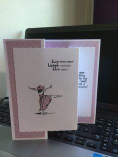 Ladies stamped card