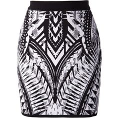 BALMAIN Chevron Pattern Rear Zip Skirt (545 CAD) ❤ liked on Polyvore featuring skirts, mini skirts, bottoms, saias, balmain, black and white short skirt, short skirts, spandex mini skirt, lycra skirt and high waisted skirts