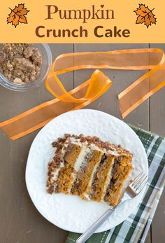 Pumpkin Crunch Cake with Cream Cheese Frosting