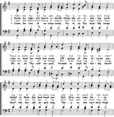 Hark, The Herald Angels Sing - Charles Wesley (1707-1788),  the younger brother of John Wesley wrote the words to this Christmas Carol.    Charles was a hymn writer and a poet, also known as one of the people who began the Methodist movement in the Church of England. It appeared in 1739 in a book called Hymns and Sacred Poems.    Wesley envisioned this being sung to the same tune as his hymn, Christ the Lord Is Risen Today,  and in some hymnals it is included along with the more popular version.