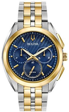 Men Watches - Bulova Mens Curv Collection Two Tone Watch -- For more  information a84fdec6a0a