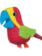 birthday parti, parrot pinata, party themes, parrots, parties, game, hawaiian luau, parti idea, tropical birds