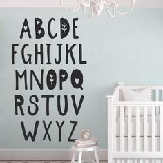 The Alphabet Wall Decal is ideal for quickly and easily transform any Playroom or kids bedroom. Alphabet Wall Decals, Abc Wall, Alphabet Print, Nursery Wall Decals, Alphabet Letters, Nursery Art, Loft Playroom, Playroom Ideas, How To Hang Wallpaper