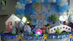 Cinderela - Decoração Cinderela para festa de aniversário infantil