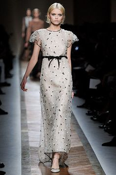 Valentino Spring 2011 Floral Appliqué Gown.