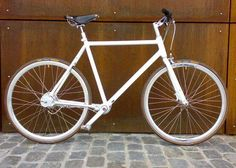 White Biomega Copenhagen with brown Brooks saddle | To cool to be true
