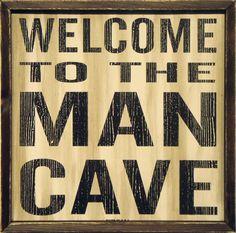 Mancave Sign