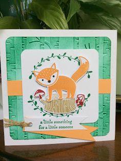 Foxy Friends, Woodland Textures Embossing Fokder, Foxes, Emerald Envy, Peekaboo Peach, amethystarcrafting, Stampin Up Foxy Friends,