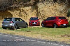 Comparativa: Suzuki Swift Sport vs Renault Clio RS vs Volkswagen Golf GTI (Parte 2)