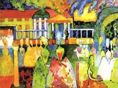"Wassily Kandinsky - ""Crinoline Lady"", 1909"